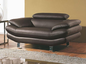 WHITE LABEL - fauteuil en cuir carlton - Fauteuil