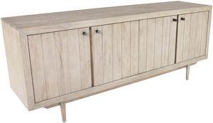 ZAGO - meuble bas 4 portes en teck sablé - Meuble Tv Hi Fi