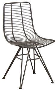 Aubry-Gaspard - chaise en métal noir antique - Chaise