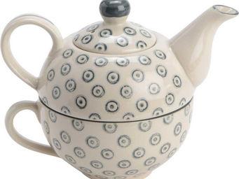 Amadeus - théière et tasse tea for one celeste - Théière
