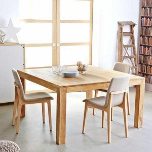 BOIS DESSUS BOIS DESSOUS - table en bois de teck carrée 140 boston - Buffet Bas