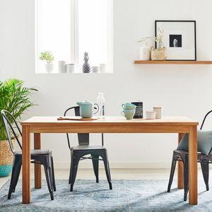 BOIS DESSUS BOIS DESSOUS - table en bois de teck 160 boston - Table De Repas Rectangulaire