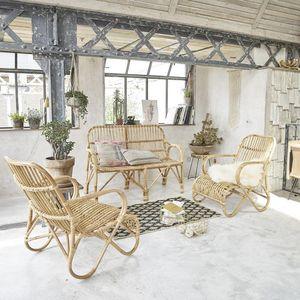 BOIS DESSUS BOIS DESSOUS - ensemble en rotin relax - Salon De Jardin