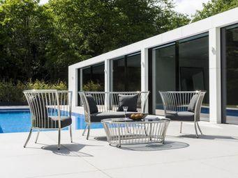 Alexander Rose - cordial lounge inox - Salon De Jardin