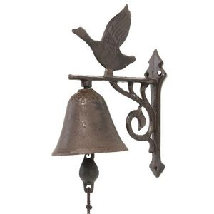 CHEMIN DE CAMPAGNE - cloche de porte portail murale en fonte de jardin  - Cloche D'extérieur