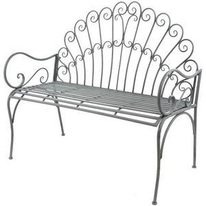 CHEMIN DE CAMPAGNE - banc fauteuil de jardin pliable en fer 108 cm - Banc De Jardin