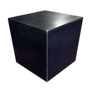 Mathi Design - cube design acier brut - Tabouret
