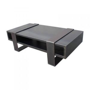 Mathi Design - table basse metallica duosteel - Table Basse Rectangulaire