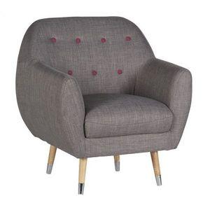 Mathi Design - fauteuil scandy gris - Fauteuil