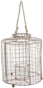 Aubry-Gaspard - lanterne en métal cuivré grillagé - Lanterne D'extérieur
