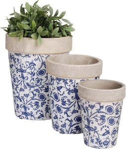 Esschert Design - pots de fleurs en céramique (lot de 3) - Cache Pot