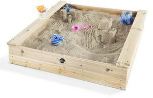 Plum - bac à sable en bois avec 2 bancs intégrés - Bac À Sable
