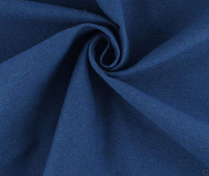 MONDIAL Tissus - demi natté bleu - Tissu D'ameublement