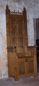 Mobilier Medieval -  - Chaise Coffre