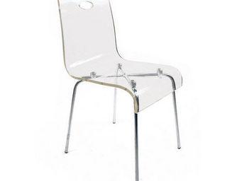 Miliboo - chaise design cindy transparente - Chaise