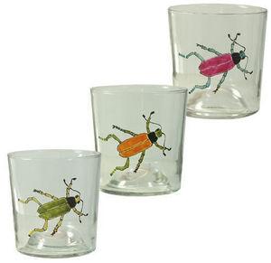 Siecle Paris - verres scarabée en cristallin et email - Verre