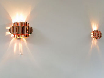 FURNITURE-LOVE.COM - pair of copper wall sconces thorsten orrling - Applique