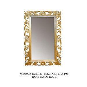 DECO PRIVE - miroir baroque en bois dore modele eclipse deco pr - Miroir