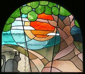 ATELIER VERSICOLORE - MAJERUS PIERRE - vitrail à joints de plomb en double vitrage - Vitrail