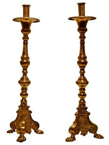 Antiquités SANT VICENS - candélabres - Chandelier