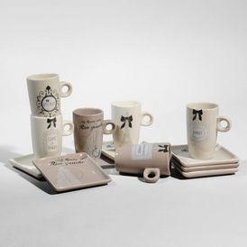 Coffret 6 tasses caf rive gauche tasse caf - Tasse a cafe maison du monde ...