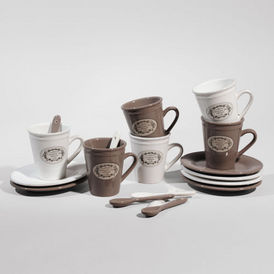 coffret 6 tasses caf blason tasse caf maisons du monde. Black Bedroom Furniture Sets. Home Design Ideas