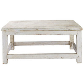 Table basse blanche avignon table basse rectangulaire maisons - Table de salon maison du monde ...