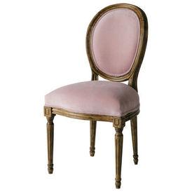 Chaise vieux rose louis chaise m daillon maisons du monde - Chaise rose maison du monde ...