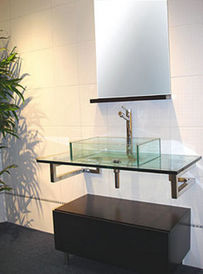 manhattan my-618 - meuble vasque - verre - my design - My Design Meuble