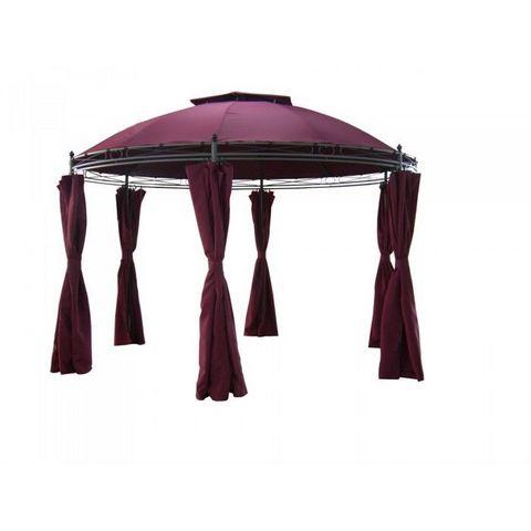 tonnelle ronde diam 3 5m avec rideaux twina tonnelle lusotufo. Black Bedroom Furniture Sets. Home Design Ideas