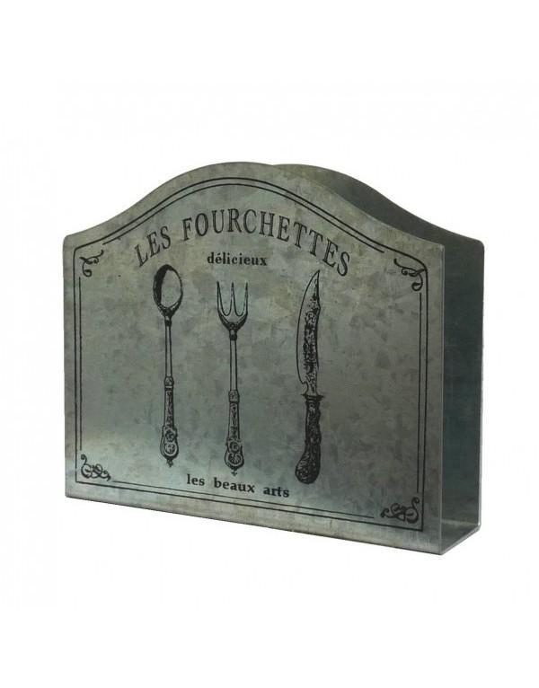 Porte serviettes de table en zinc porte serviettes en for Porte serviettes papier