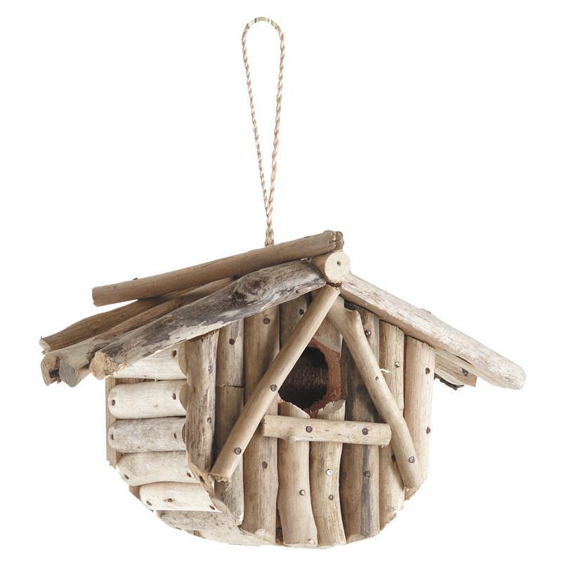 Nichoir oiseau en bois flott maison d 39 oiseau bois - Branche bois flotte decoration ...