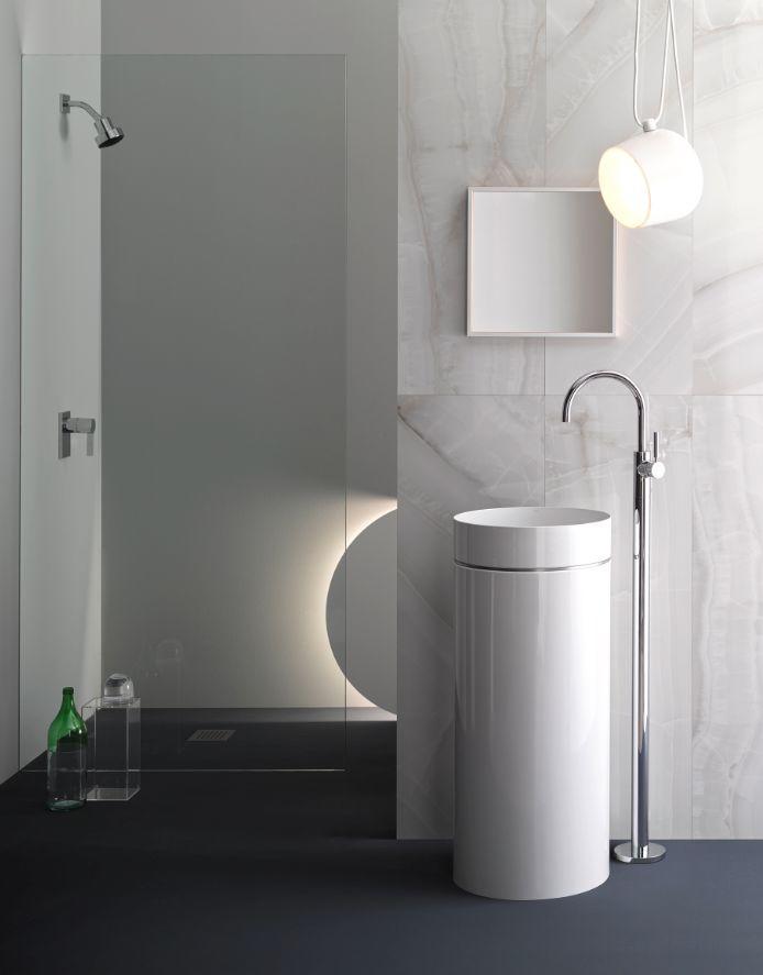 ke me lavabo sur colonne ou pied blanc alape decofinder. Black Bedroom Furniture Sets. Home Design Ideas