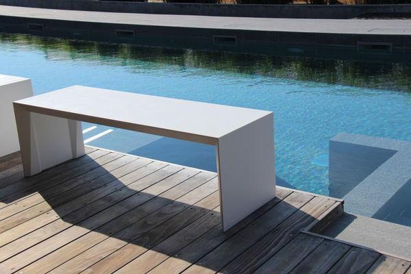 tekto banc de jardin blanc r sine de synth se 1300 x 450 x. Black Bedroom Furniture Sets. Home Design Ideas