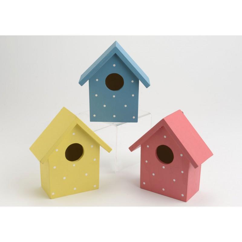 nichoir color maison d 39 oiseau bois 18 cm x 13 cm x. Black Bedroom Furniture Sets. Home Design Ideas