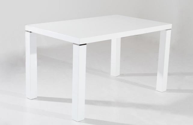 table de cuisine 130 cm rectangulaire blanc design table. Black Bedroom Furniture Sets. Home Design Ideas