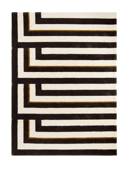 fours corners tapis contemporain noir la. Black Bedroom Furniture Sets. Home Design Ideas