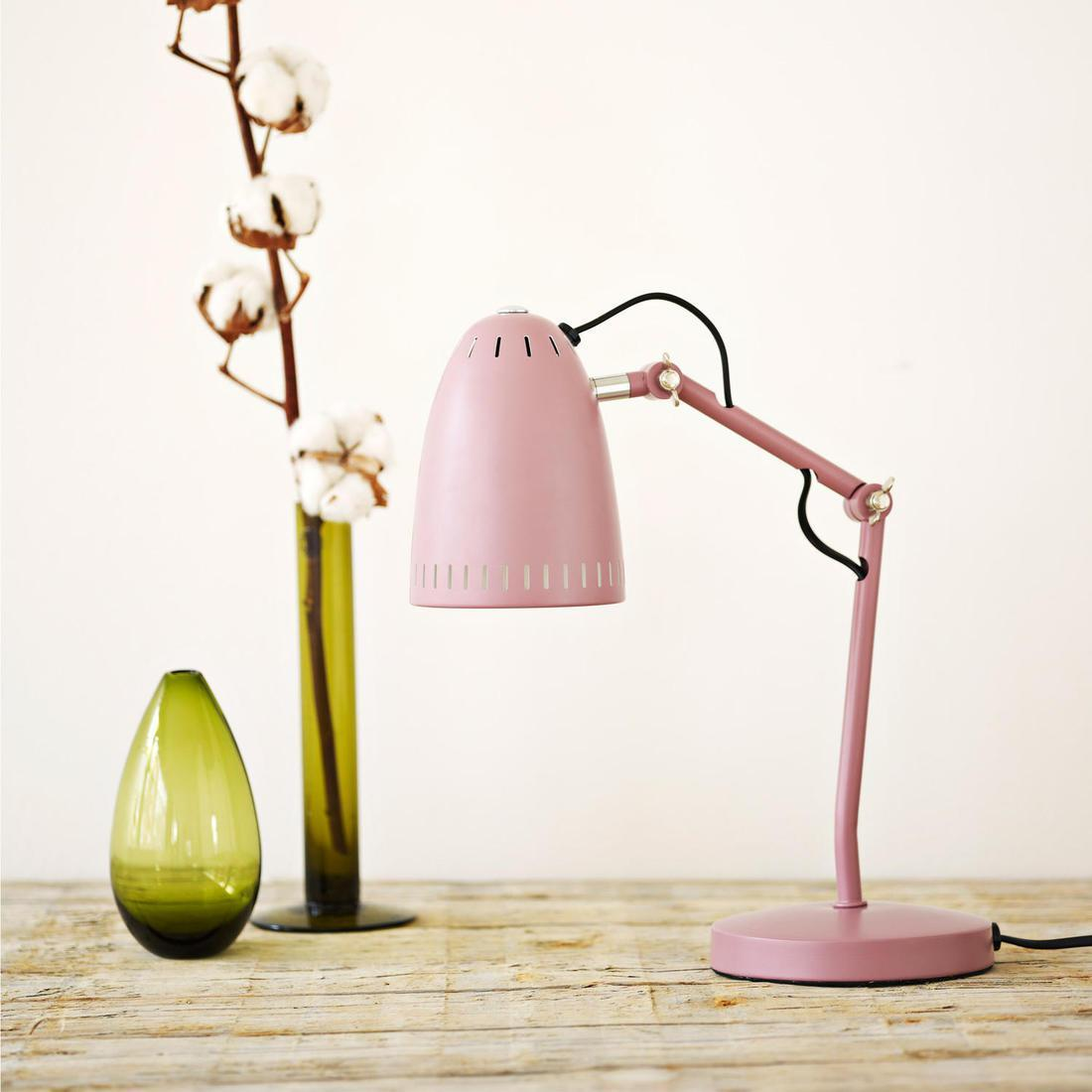 Dynamo table lampe de bureau bleu m tal h 40cm - Lampe de bureau bleu ...