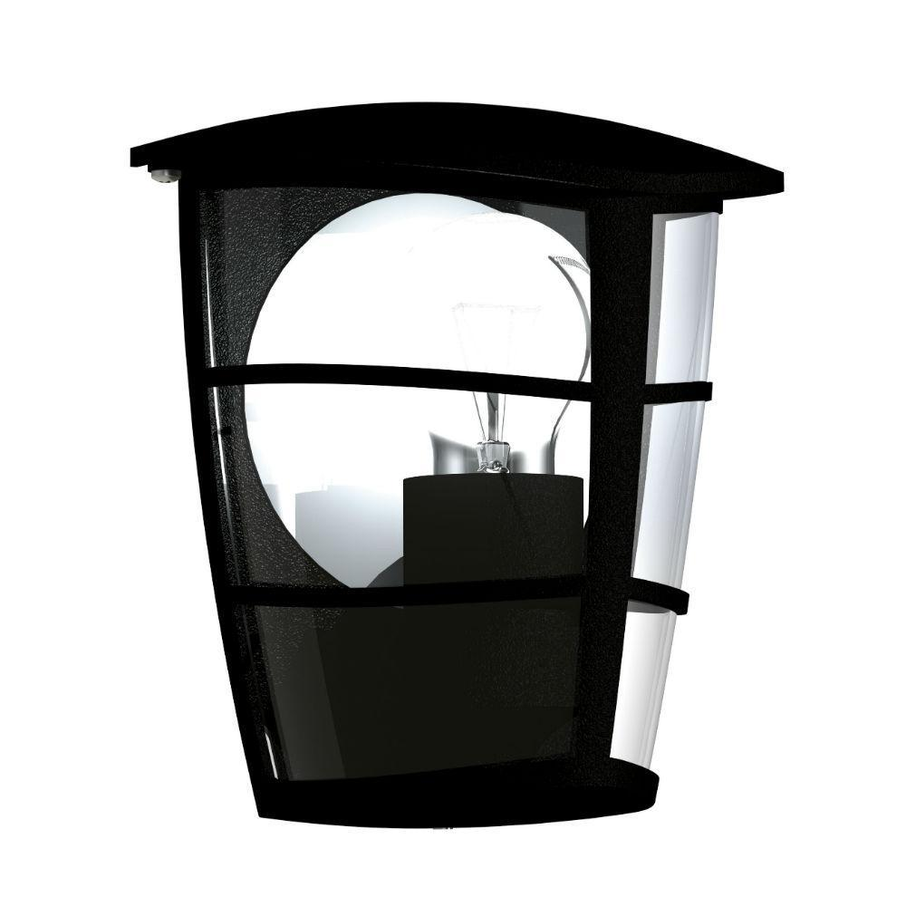 aloria applique d 39 ext rieur noir m tal h 20cm l. Black Bedroom Furniture Sets. Home Design Ideas