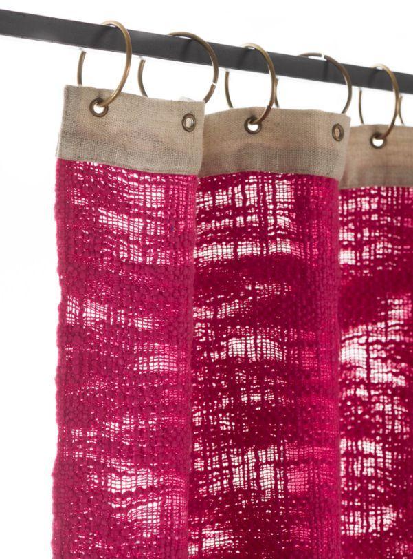 Rideaux oeillets rose en fil d 39 indienne decofinder - En fil d indienne ...
