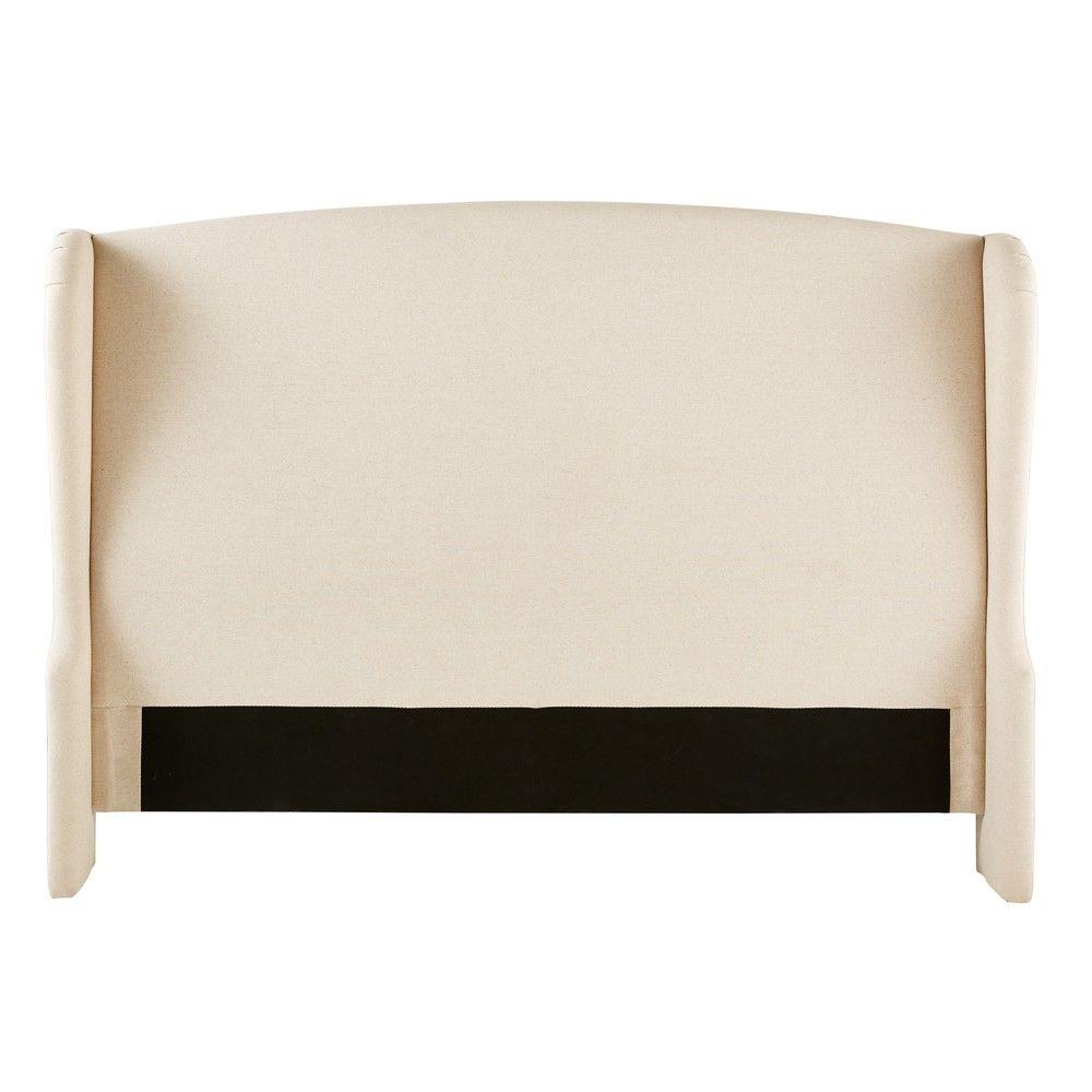 t te de lit 180 cottaget te de lit beige 199x130x24cm. Black Bedroom Furniture Sets. Home Design Ideas