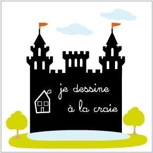 LILI POUCE - Ardoise d'école-LILI POUCE-Stickers château ardoise kit de 7 stickers décorat