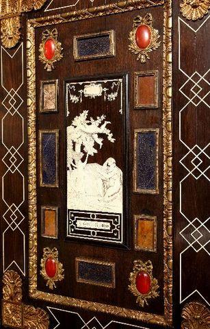 Galerie Jérôme Pla - Bureau cabinet-Galerie Jérôme Pla-Cabinet Florentin formant écritoire  Ita