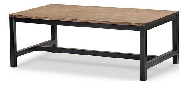 MOOVIIN - Console d'extérieur-MOOVIIN-Table basse rectangulaire iron en acacia brossé et