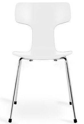 Arne Jacobsen - Chaise-Arne Jacobsen-Chaise 3103 Arne Jacobsen blanche Lot de 4