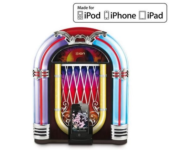 ION - Enceinte station d'accueil-ION-Jukebox Dock- Dock audio pour iPod/iPhone/iPad
