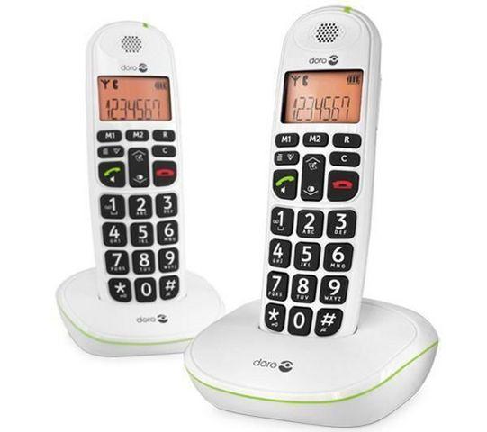 Doro - Téléphone-Doro-Tlphone DECT PhoneEasy 100w Duo - blanc