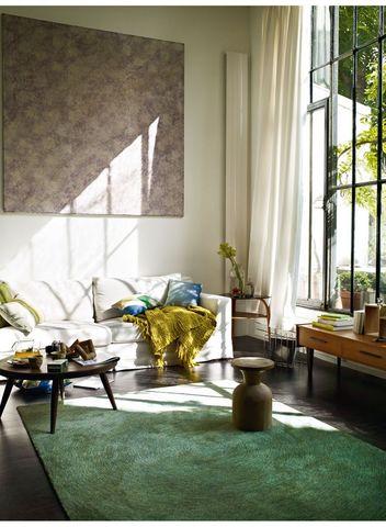 ESPRIT - Tapis traditionnel-ESPRIT-Tapis COLOUR IN MOTION vert 200x200 en Acrylique