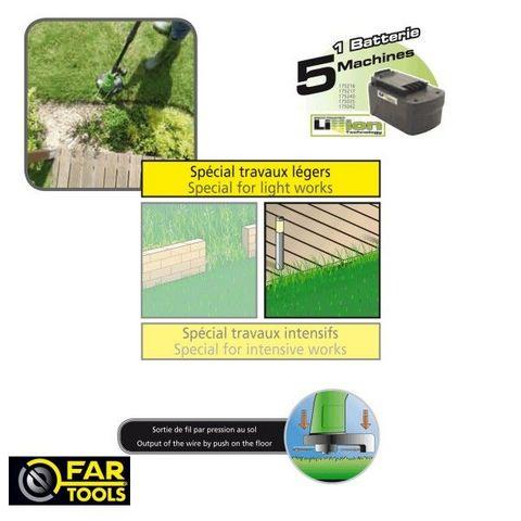 FARTOOLS - Coupe-bordure-FARTOOLS-Coupe bordure à batterie 18 volts Fartools