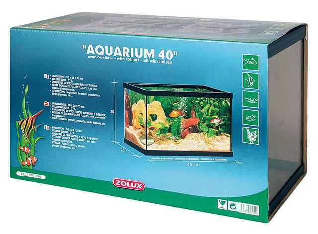 ZOLUX - Aquarium-ZOLUX-Aquarium 20 litres rectangulaire avec cornières 40